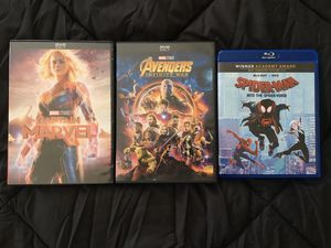 Blu Ray/DVDs ($5 each Or $13 for all) for Sale in Corona, CA