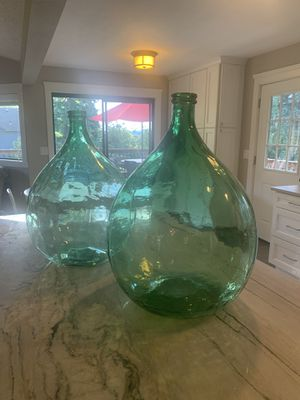 Large green Carboys - Demijohn - buy 1 or both! for Sale in Vancouver, WA
