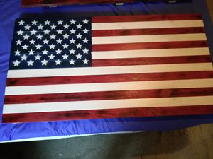 American flag handmade decoration wood for Sale in Lebanon, PA
