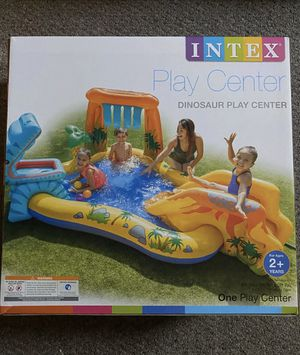 Intex Dinosaur Play Center Kiddie Pool Toddler Kids Outdoor Water Toy for Sale in Chicago, IL