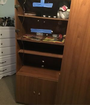 3 wood cabinet/bookshelves for Sale in Largo, FL