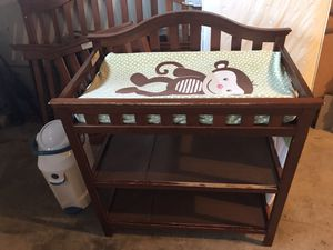 Nursery Items changing table, crib, diaper pail, etc for Sale in Kent, WA