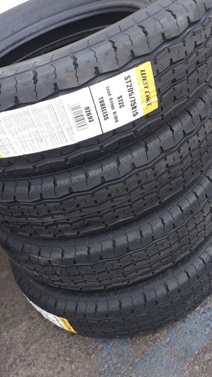 St205 75 r15 trailer tires 4new $360 for Sale in Chino, CA