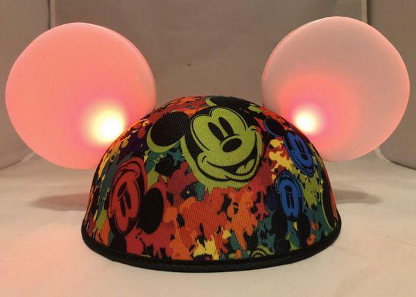 Disney Ears Mickey Mouse Magic Light Up Like New Two Mickey Ears