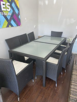 Patio furniture dining table and 8 chairs for Sale in Chino, CA