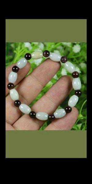 10*7*7mm Bead Cert'd Vivid Green 100% Natural A Jade Jadeite Bracelet for Sale in Richmond, CA