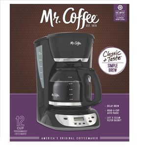 Mr. Coffee Black 12-Cup Programmable Coffee Maker for Sale in Utica, MI