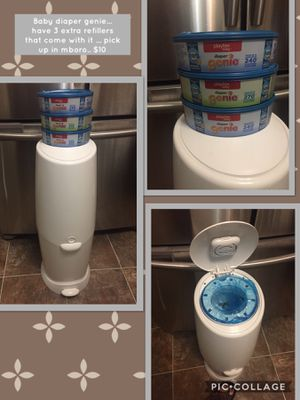 Baby diaper genie... have 3 extra refillers that come with it ... pick up in mboro.. $10 for Sale in Murfreesboro, TN