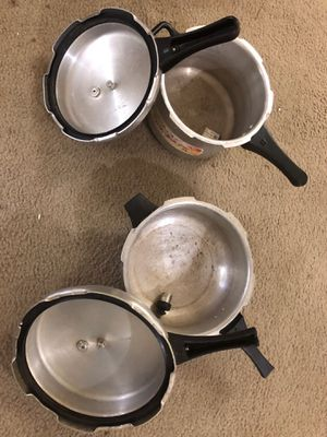 Pressure Cooking Pans $10 each for Sale in Houston, TX