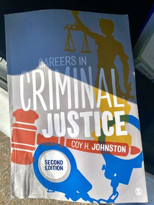CAREERS IN CRIMINAL JUSTICE TEXTBOOK for Sale in Orlando, FL