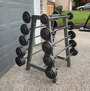 Ivanko Weights Fixed Barbells 25-115lbs (700lbs Total) w/ Rack $2800+ Value for Sale in Happy Valley, OR