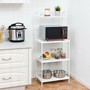 Costway 4-Tier Baker's Rack Microwave Oven Rack Shelves Kitchen Storage Organizer White for Sale in Irvine, CA
