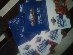 UNIVERSAL 2 PARK PASS. $80 EACH for Sale in Lakeland, FL