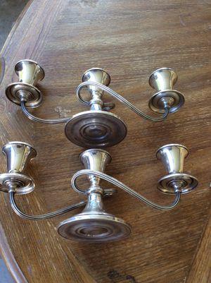 Pair Puritan Gorham 643 Sterling Silver Twisted-branch 3 Light Candelabra for Sale in Glendale, AZ