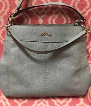 Turquoise/Light Blue Coach Lexy Pebble Leather Shoulder Bag for Sale in Hazelwood, MO