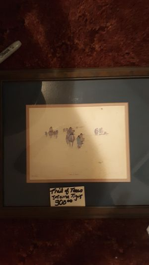 Jerome tiger- trail of tears 69/1500 for Sale in Vinita, OK