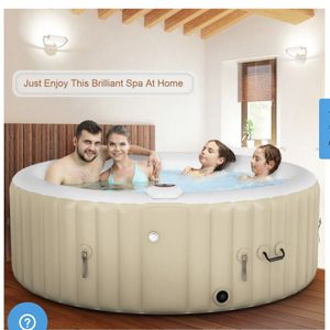 New Inflatable Bubble Massage Spa Hot Tub 4 Person White for Sale in Hacienda Heights, CA