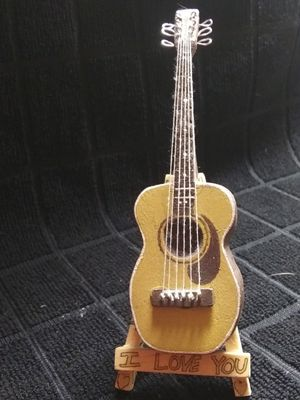 Custom MINI Hand Carved Acoustic Guitar (Highly Detailed) for Sale in Columbus, OH