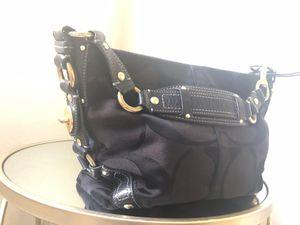 Coach Purse- Medium- black cotton fabric for Sale in Phoenix, AZ