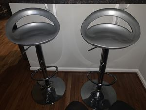 Set of silver bar stools for Sale in Philadelphia, PA