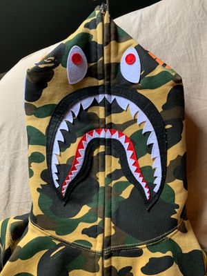 Bathing ape (BAPE) shark hoodie - yellow camo for Sale in Holliston, MA