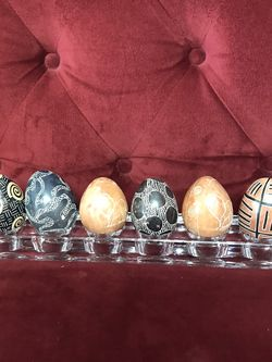Modernist Designed Carved Stone Eggs [Group 4] for Sale in Tacoma,  WA