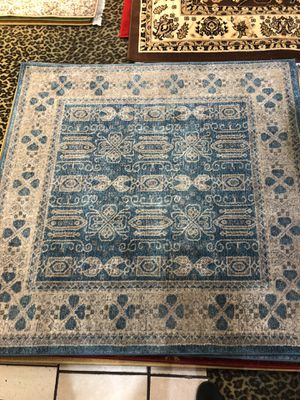 4 x 4 new nice persian rug nice light blue for Sale in Beverly Hills, CA