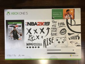 X Box One S 1 TB Console - NBA 2K19 Bundle - Limited Edition for Sale in San Carlos, CA