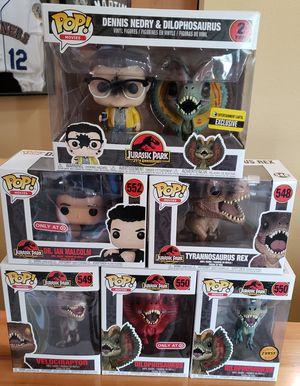 Lot of 6 Jurassic Park Funko Pops! for Sale in Arlington, WA