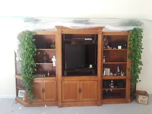 TV stand with shelves for Sale in Falls Church, VA
