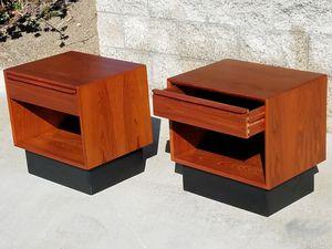 Vintage TEAK NIGHTSTAND END TABLES by Westnofa of Norway for Sale in Oceanside, CA