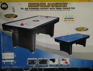 7fts air powered hockey with table tennis top for Sale in Los Angeles, CA