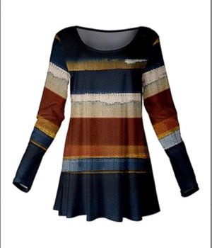 Blue and brown scoop neck tunic XL new for Sale in East Cleveland, OH