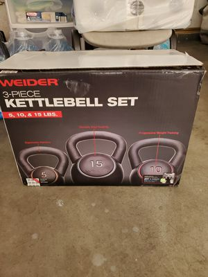 kettlebell set. 5,10,15lb for Sale in Lake View Terrace, CA
