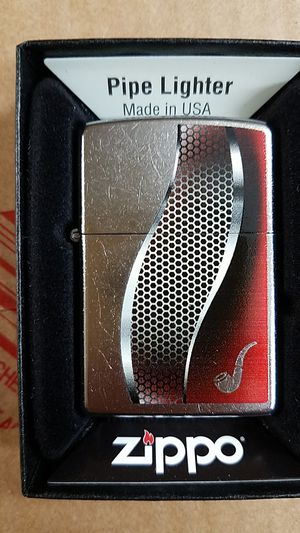Zippo pipe lighter red street chrome 28371 for Sale in Los Angeles, CA