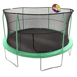 12ft trampoline with enclosure and basketball hoop for Sale in Galloway, OH