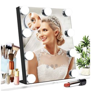NEW! Vanity Mirror with Lights, Baban Hollywood Makeup Mirror with Dimmable LED with Lights 3 Colors Light Detachable 10X Magnification Touch Control for Sale in Stuart, FL