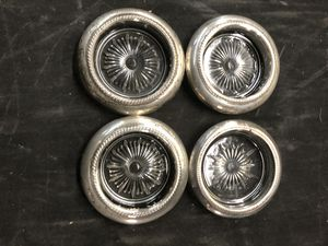 Antique silver-plate glass coasters for Sale in Hallandale Beach, FL