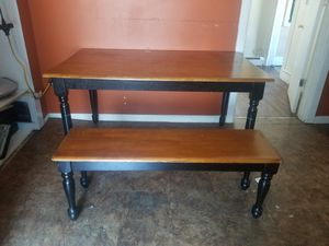 Kitchen table and bench for Sale in Elizabeth, NJ
