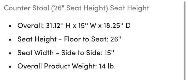 """Counter height stool 26"""" 5 available)"""