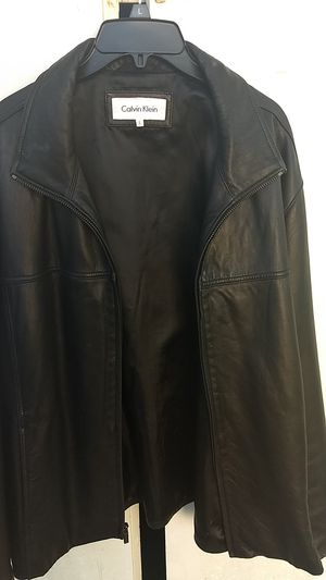 Calvin Klein Men's Leather Jacket for Sale in Cypress Gardens, FL