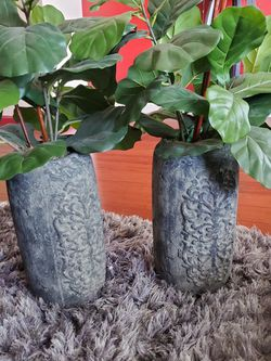 Artificial Plant With Cement Pot for Sale in Fremont,  CA