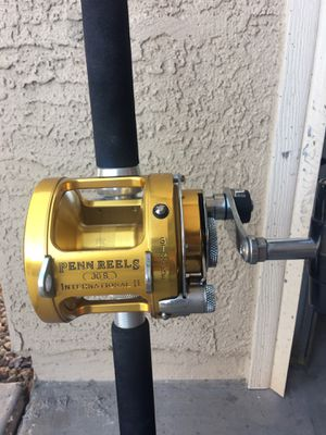 Penn International 2 30S fishing reel and custom rod for Sale in Queen Creek, AZ