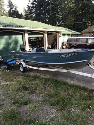 1993 16' Spectrum aluminum boat and trailer for Sale in Renton, WA