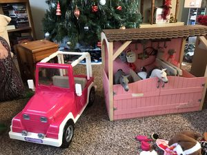 American girl doll horse carriage Jeep accessories lot for Sale in Virginia Beach, VA