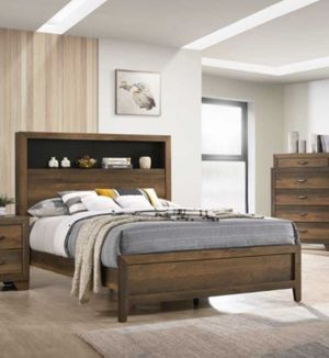 QUEEN BED FRAME WITH MATTRESS *909*541*6556 1662 INDIAN HILL BLVD POMONA CA 91767 for Sale in Pomona, CA