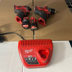 Milwaukee M12 Fuel Brushless Hammer Drill And Fuel Impact Driver for Sale in Elkridge, MD