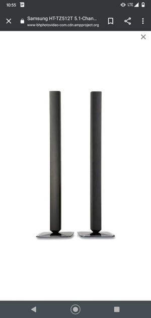 samsung ps ftz 512 tower speakers pair. 20$ for Sale in Houston, TX