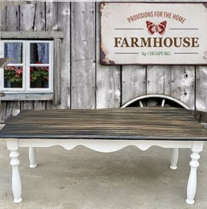 """Refinished Solid Wood Farmhouse Rustic Coffee Table H 19"""" W 50"""" D 15 1/2"""" for Sale in Bloomington, CA"""
