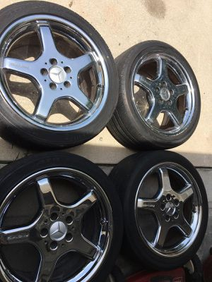 Set of Mercedes Benz AMG wheels for Sale in Sun City Center, FL